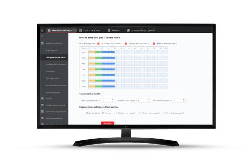 monitor control de presencia